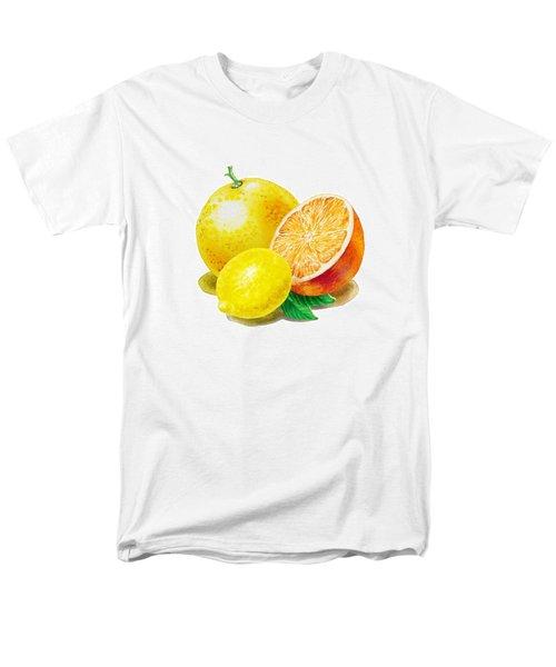 Grapefruit Lemon Orange Men's T-Shirt  (Regular Fit) by Irina Sztukowski