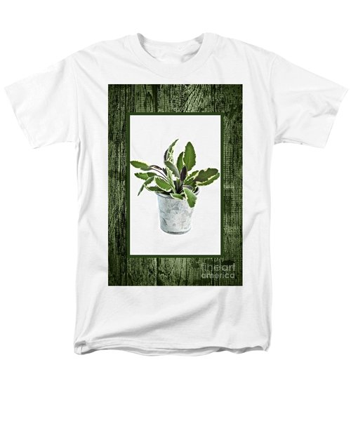 Green sage herb in small pot T-Shirt by Elena Elisseeva