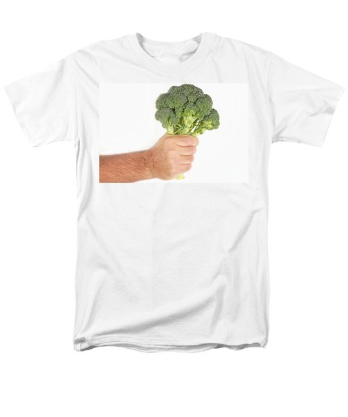 Hand Holding Broccoli Men's T-Shirt  (Regular Fit) by James BO  Insogna