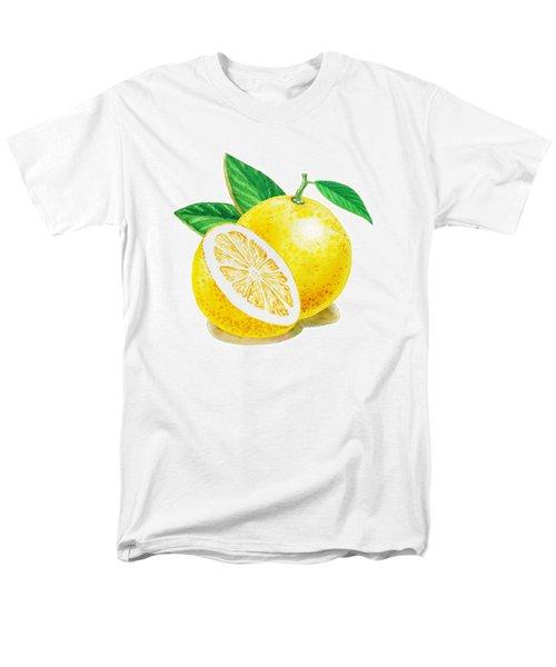 Happy Grapefruit- Irina Sztukowski Men's T-Shirt  (Regular Fit) by Irina Sztukowski