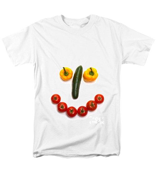 Happy Veggie Face T-Shirt by Olivier Le Queinec