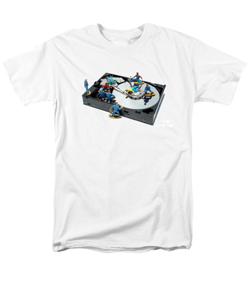 Hard Drive Maintenance T-Shirt by Olivier Le Queinec