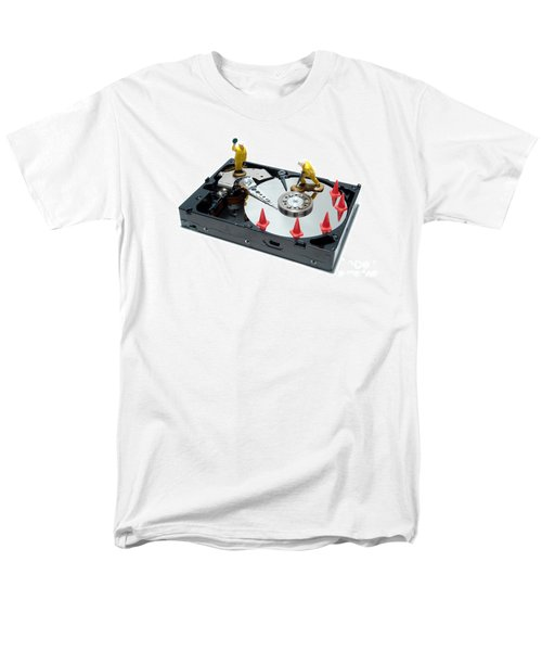 Hard Drive Repair T-Shirt by Olivier Le Queinec