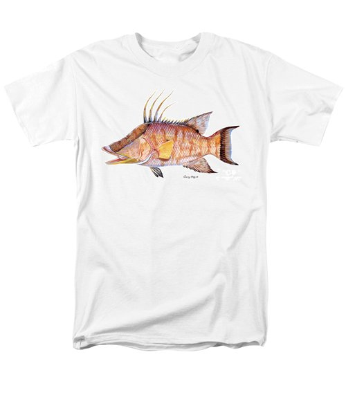 Hog Fish Men's T-Shirt  (Regular Fit) by Carey Chen