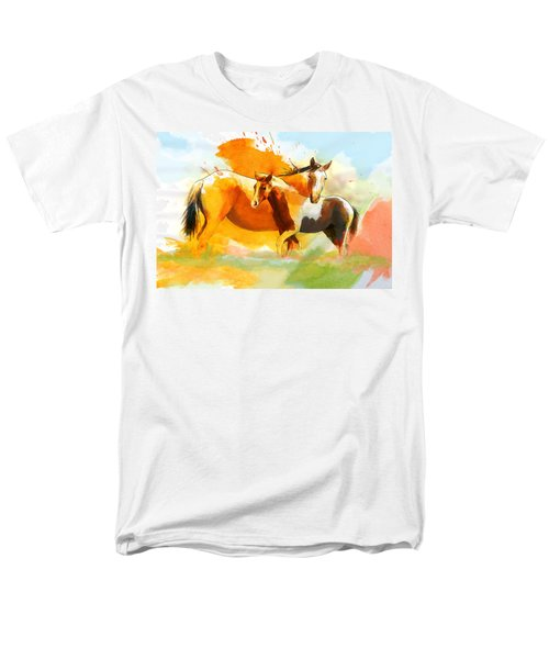 Horse Paintings 013 T-Shirt by Catf