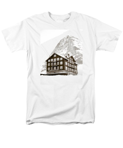 Hotel Des Alpes And Eiger North Face T-Shirt by Frank Tschakert