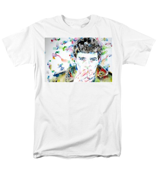 IAN CURTIS SMOKING CIGARETTE WATERCOLOR PORTRAIT T-Shirt by Fabrizio Cassetta
