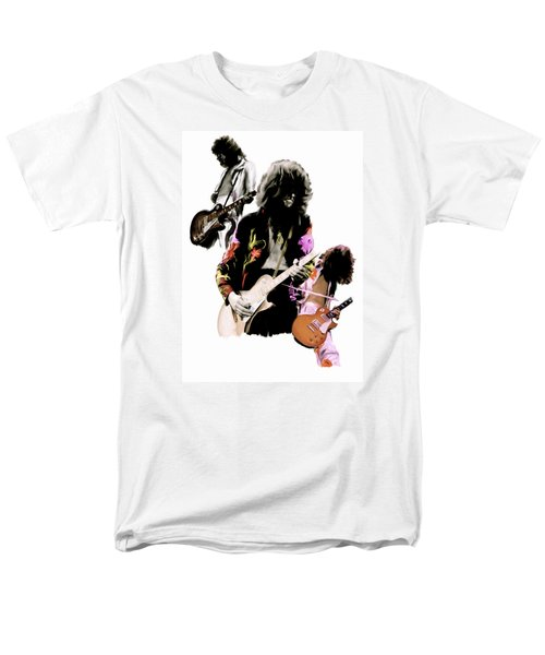In Flight Iv Jimmy Page  Men's T-Shirt  (Regular Fit) by Iconic Images Art Gallery David Pucciarelli