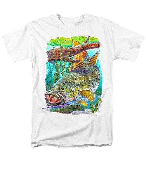 Largemouth Bass Men's T-Shirt  (Regular Fit) by Carey Chen