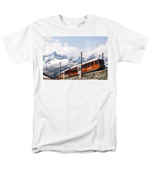 Matterhorn railway Zermatt Switzerland T-Shirt by Matteo Colombo