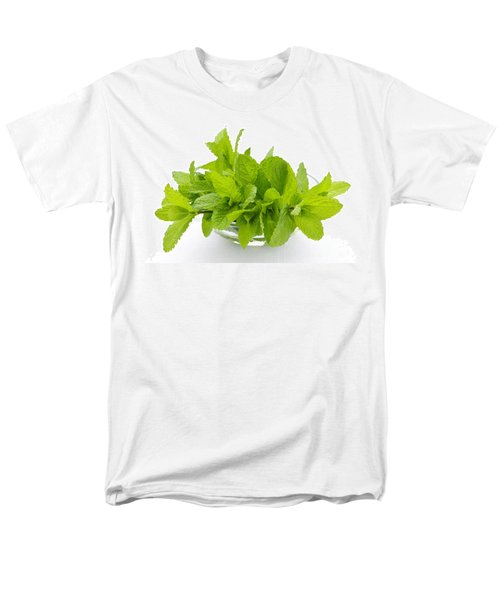 Mint sprigs in bowl T-Shirt by Elena Elisseeva