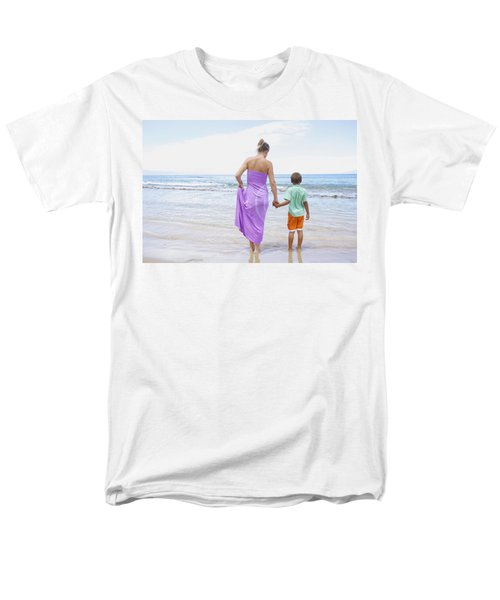 Mother and Son on Beach T-Shirt by Kicka Witte