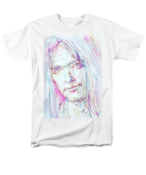 Neil Young - Colored Pens Portrait Men's T-Shirt  (Regular Fit) by Fabrizio Cassetta