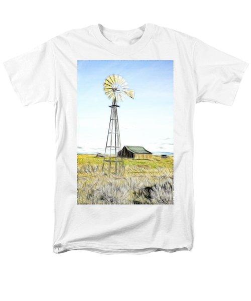 Old Ranch Windmill T-Shirt by Steve McKinzie