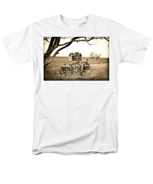 Old Wagon And Homestead T-Shirt by Athena Mckinzie