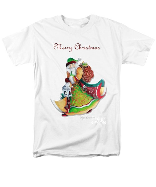 Old World Santa Christmas Art Original Painting by Megan Duncanson T-Shirt by Megan Duncanson