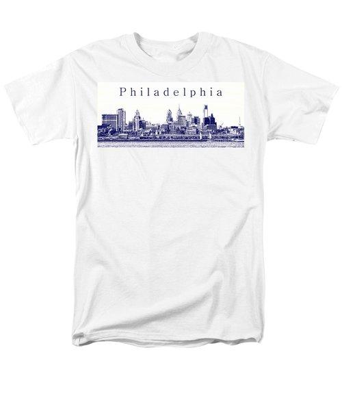 Philadelphia Blueprint  T-Shirt by Olivier Le Queinec