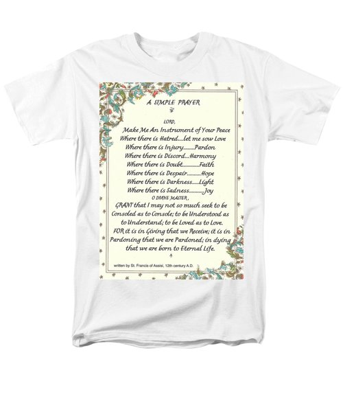Pope Francis St. Francis SIMPLE PRAYER T-Shirt by Desiderata Gallery