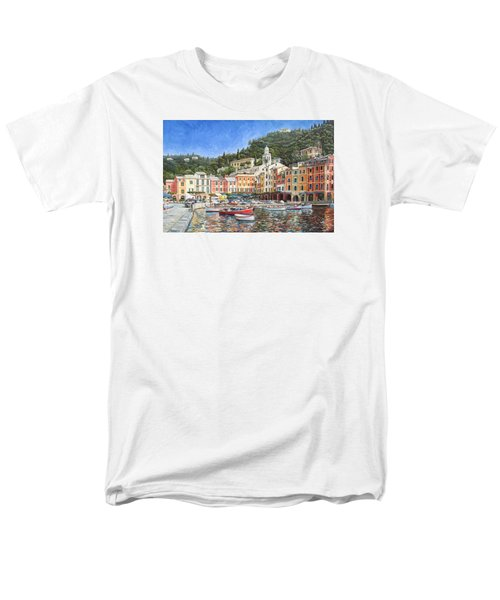 Portofino Italy T-Shirt by Mike Rabe