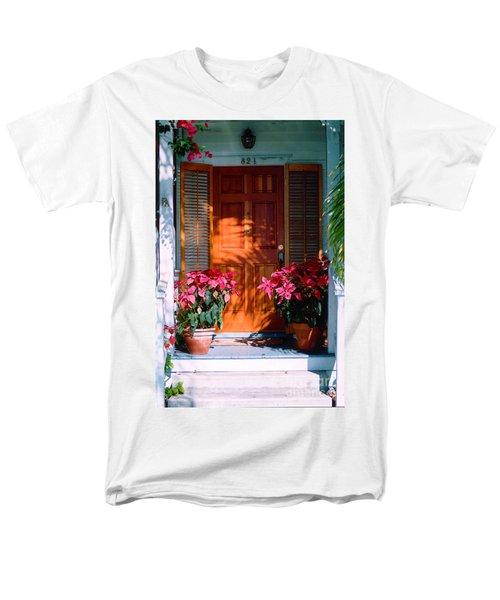 Pretty House Door in Key West T-Shirt by Susanne Van Hulst
