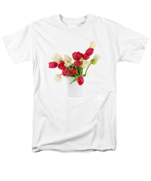 Red and white tulips T-Shirt by Elena Elisseeva