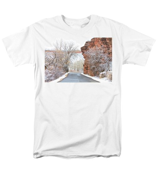 Red Rocks Winter Landscape Drive T-Shirt by James BO  Insogna