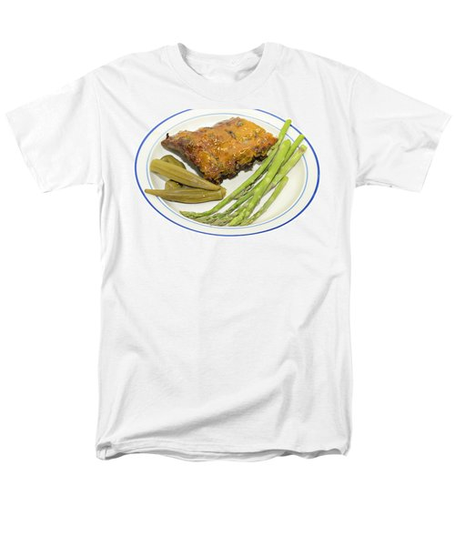 Ribs Plate with Vegetables T-Shirt by Susan Leggett