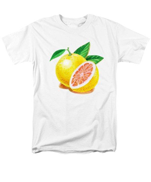 Ruby Red Grapefruit Men's T-Shirt  (Regular Fit) by Irina Sztukowski