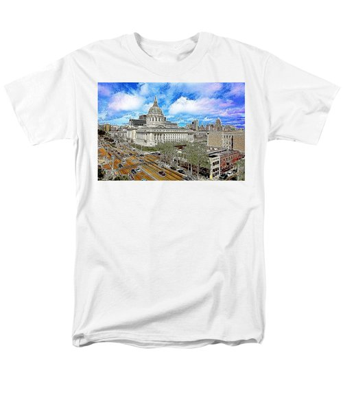 San Francisco City Hall 5D22507 Photoart T-Shirt by Wingsdomain Art and Photography