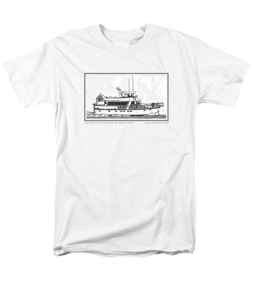 Sixtyfive Foot DeFever Trawler Yacht T-Shirt by Jack Pumphrey