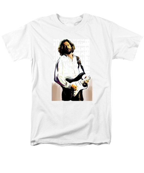 Slow Hand  Eric Clapton Men's T-Shirt  (Regular Fit) by Iconic Images Art Gallery David Pucciarelli