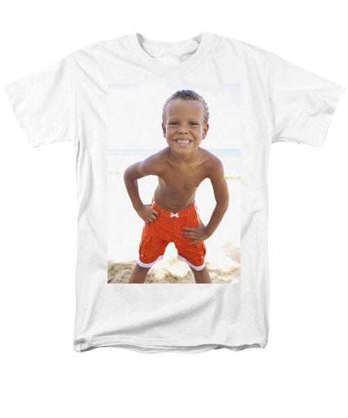Smiling Boy on Beach T-Shirt by Kicka Witte