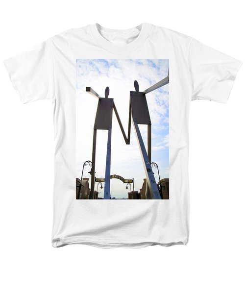 South Street Stick Men Statue T-Shirt by Bill Cannon