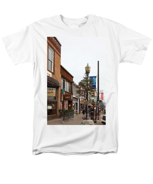 Storefront Shops in Truckee California 5D27490 T-Shirt by Wingsdomain Art and Photography