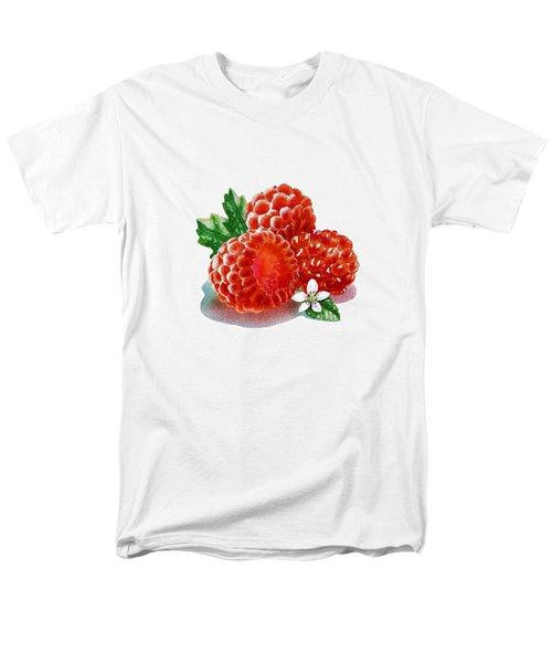 Three Happy Raspberries Men's T-Shirt  (Regular Fit) by Irina Sztukowski