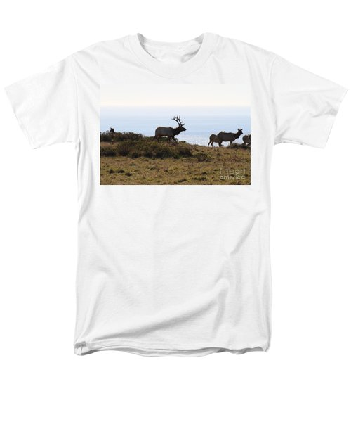 Tules Elks of Tomales Bay California - 7D21230 T-Shirt by Wingsdomain Art and Photography