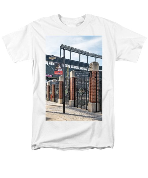 Watch Out For Batted Balls T-Shirt by Susan Candelario