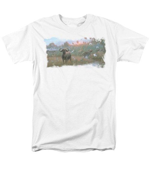 Wildlife - Cape Buffalo Men's T-Shirt  (Regular Fit) by Brand A