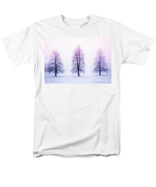 Winter trees in fog at sunrise T-Shirt by Elena Elisseeva