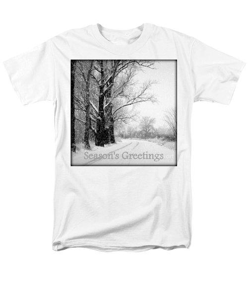 Winter White Season's Greetings T-Shirt by Carol Groenen