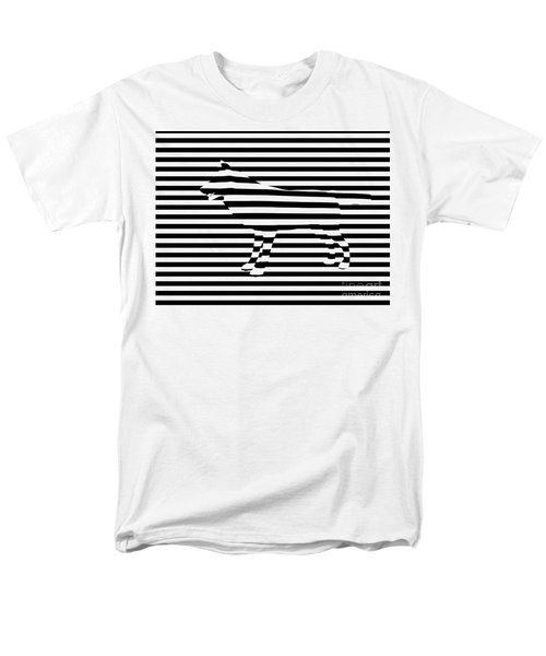 Wolf optical illusion T-Shirt by Pixel  Chimp