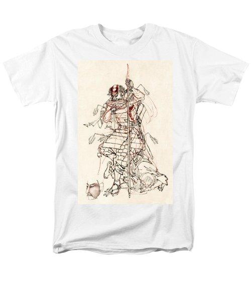 WOUNDED SAMURAI DRINKING SAKE c. 1870 T-Shirt by Daniel Hagerman