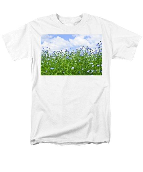 Blooming flax field T-Shirt by Elena Elisseeva