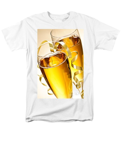 Champagne glasses T-Shirt by Elena Elisseeva