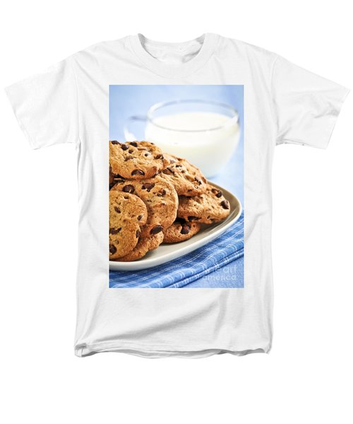 Chocolate chip cookies and milk T-Shirt by Elena Elisseeva