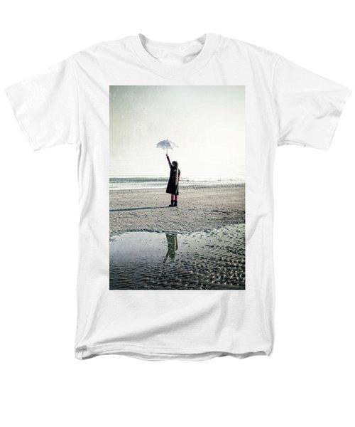 Girl on the beach with parasol T-Shirt by Joana Kruse