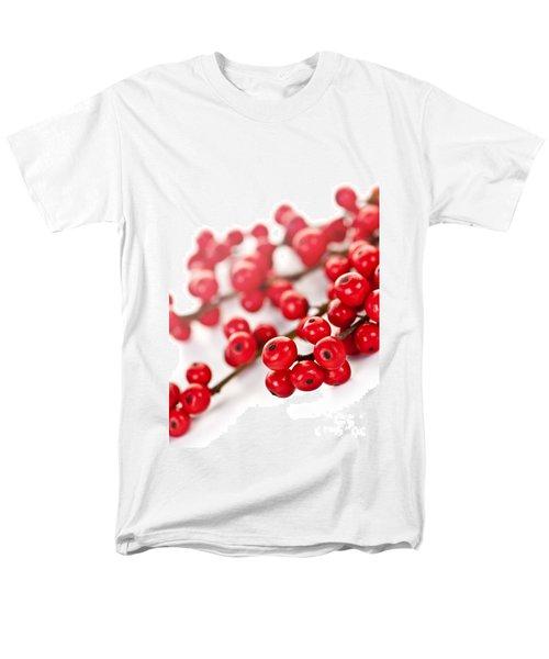 Red Christmas berries T-Shirt by Elena Elisseeva