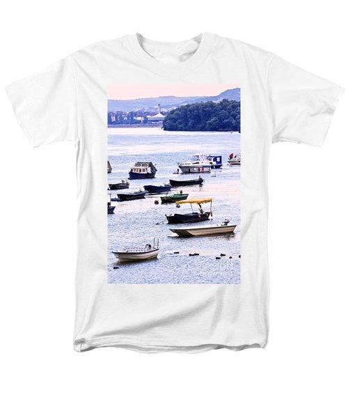 River boats on Danube T-Shirt by Elena Elisseeva