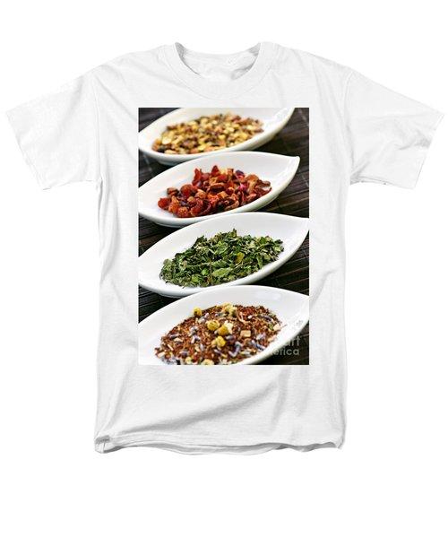 Assorted herbal wellness dry tea in bowls T-Shirt by Elena Elisseeva