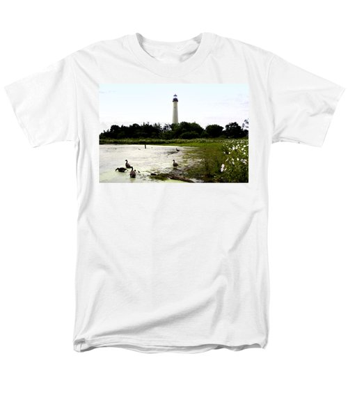 Behind the Cape May Lighthouse T-Shirt by Bill Cannon